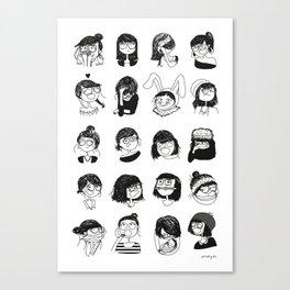Daily mood Canvas Print