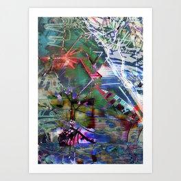 Abstract Adventure Art Print