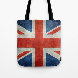 "UK Union Jack flag ""Bright"" retro grungy style Tote Bag"