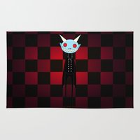 demon Area & Throw Rugs featuring Demon by Daniela Jiménez