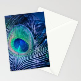 Peacock Feather Blush Stationery Cards
