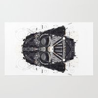 darth vader Area & Throw Rugs featuring darth vader by yoaz