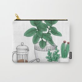 Coffee and Plants Carry-All Pouch