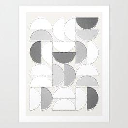 Mid Century Modern /// Sliced Circles Art Print