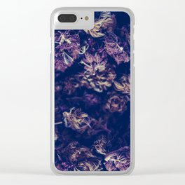 A macro photo of a bunch of cannabis kush Clear iPhone Case