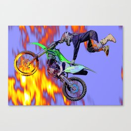 High Flying Freestyle Motocross Rider Canvas Print