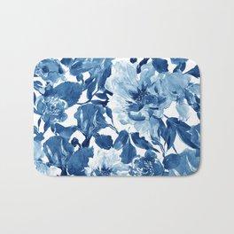 Cobalt Blue Pattern Bath Mat