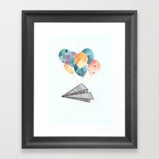 Fly paper plane! Framed Art Print