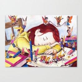 Playful fairies Canvas Print