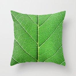 Green Vein Life Throw Pillow