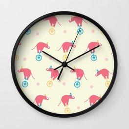 Circus & Cie - Pink elephant Wall Clock