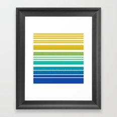 Bay Ombre Stripe: Sunrise Framed Art Print