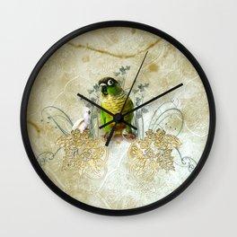 Wonderful, cute parrot Wall Clock