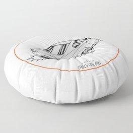 Crazy Car Art 0221 Floor Pillow