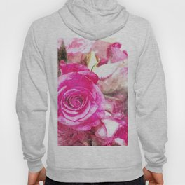 Bunch of Pink roses (watercolour) Hoody