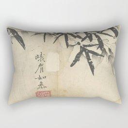 Bamboo In Snow Rectangular Pillow