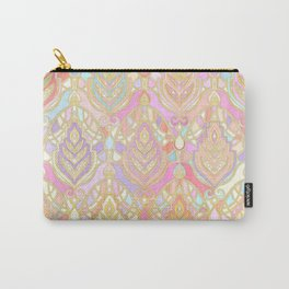Rosy Opalescent Art Deco Pattern Carry-All Pouch