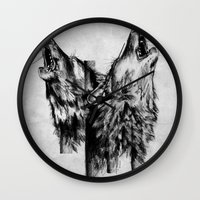 howl Wall Clocks featuring Howl  by Ink Odyssey