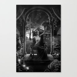 XI. Justice Tarot Card Illustration Canvas Print