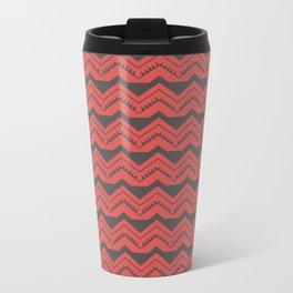 Red and Black Zig Zags Travel Mug