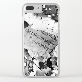 Certain Changes Clear iPhone Case