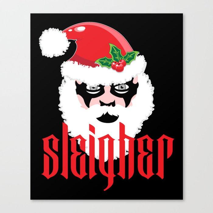 Christmas Parody.Sleigher Christmas Xmas Parody Canvas Print By Anziehend