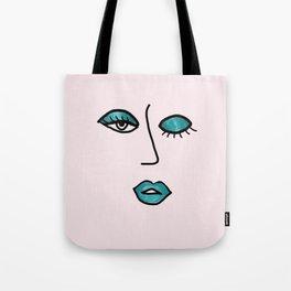 Light Pink & Teal Vampy Vixen Tote Bag