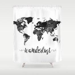 World map shower curtains society6 wanderlust world map shower curtain gumiabroncs Gallery