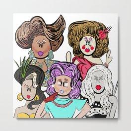 Collage of Queens, RuPaul's Drag Race Metal Print