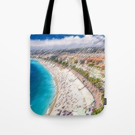 The French Riviera Landscape Painting by Jeanpaul Ferro Tote Bag