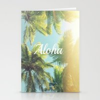 "aloha Stationery Cards featuring AloHa by ""CVogiatzi."