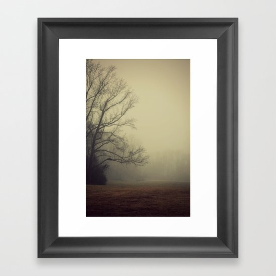 A Gathering of Fog Framed Art Print