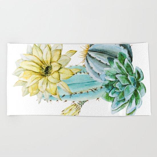 Cactus 02 Beach Towel