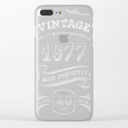 Vintage-1977---40th-Birthday-Gift-Idea Clear iPhone Case
