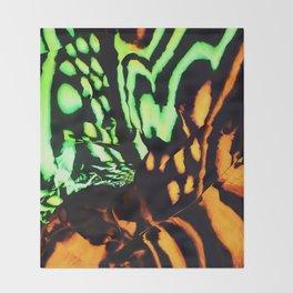 Neon animal skin Throw Blanket