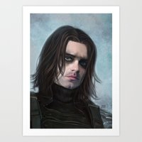 the winter soldier Art Prints featuring Winter Soldier by Slugette