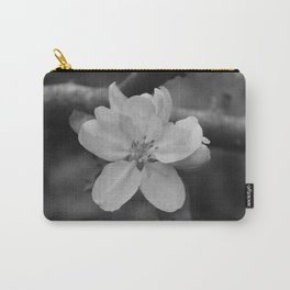 b&w apple blossom Carry-All Pouch
