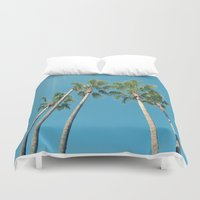 palm tree Duvet Covers featuring Palm tree by Laura James Cook