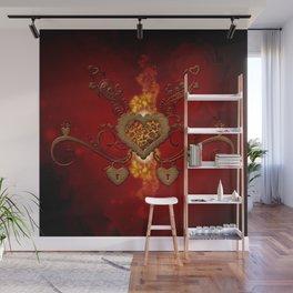 The wonderful hearts Wall Mural