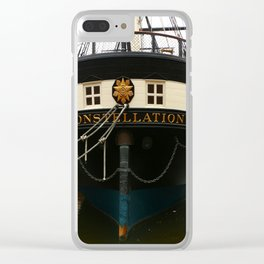 USS Constellation Detail Clear iPhone Case