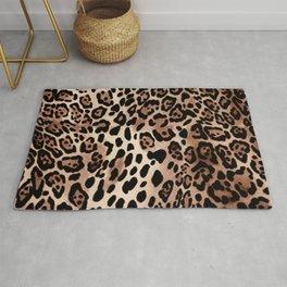 Leopard Animal Wildlife Pattern Print Rug