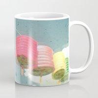 lanterns Mugs featuring Lanterns by Cassia Beck