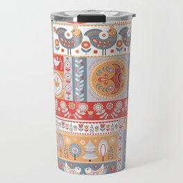 Decorative Pattern in Patchwork Style. Travel Mug