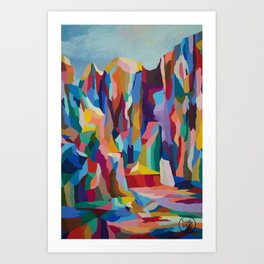 Rainbow Canyon Art Print