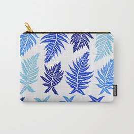 Inked Ferns – Blue Palette Carry-All Pouch
