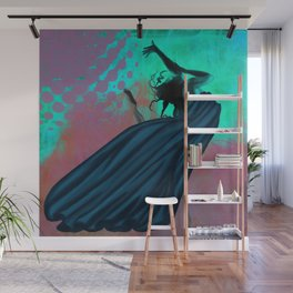 Flying Woman Wall Mural