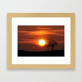 AFRICAN SUNSET Framed Art Print