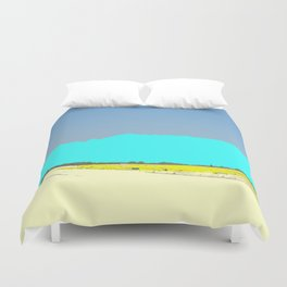 A View From Afar Duvet Cover