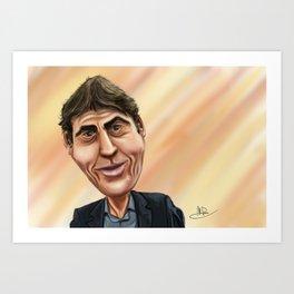 Rudi Garcia Caricature Art Print