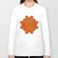 wooden Long Sleeve T-shirts featuring Wooden Whorls by Peter Gross